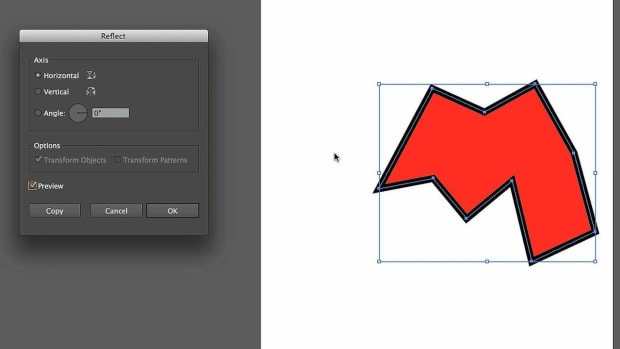 P. How to Reflect Objects with Adobe Illustrator Promo Image