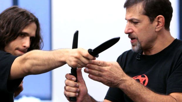 ZB. How to Defend Yourself against a Straight Stab in Krav Maga Promo Image