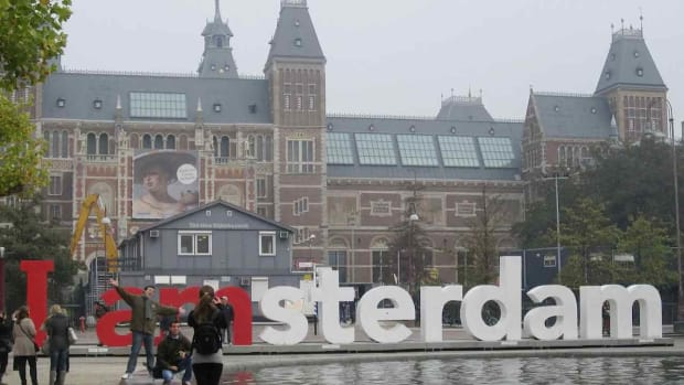 H. Visiting the Museumplein in Amsterdam Promo Image