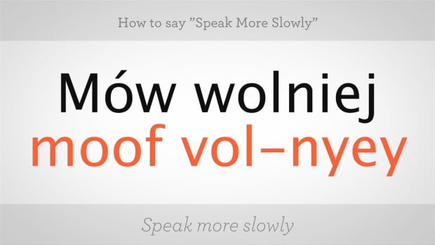 "ZX. How to Say ""Speak More Slowly"" in Polish Promo Image"