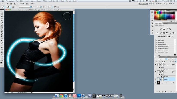 P. How to Intensify & Modify Glowing Lines in Photoshop Promo Image
