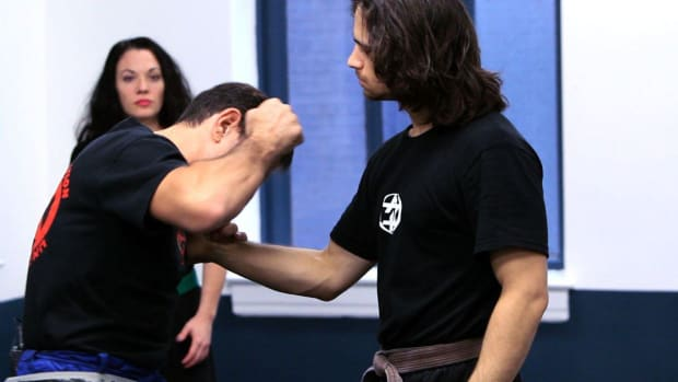 Z. How to Defend Yourself against Front Shirt Grab in Krav Maga Promo Image