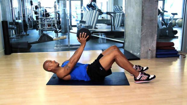 P. How to Do Medicine Ball Exercises at the Gym Promo Image