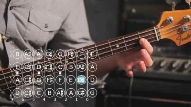 ZO. How to Play a B Major Scale on Bass Guitar Promo Image