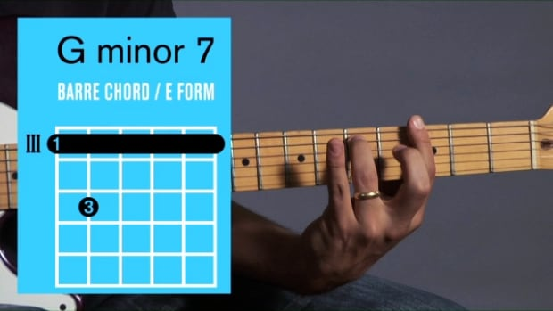 ZZZZZA. How to Play a G Minor 7 Barre Chord on Guitar Promo Image