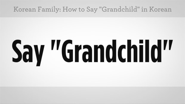 "ZZA. How to Say ""Grandchild"" in Korean Promo Image"