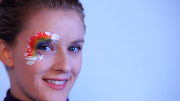 ZE. How to Paint a Rainbow with Face Paint Promo Image