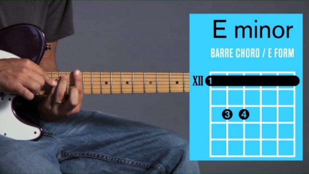 ZZZT. How to Play an E Minor Barre Chord on Guitar Promo Image
