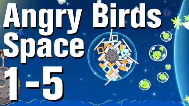 E. Angry Birds: Space Walkthrough Level 1-5 Promo Image