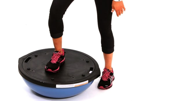 E. How to Do a Step-Up with a Bosu Ball Promo Image