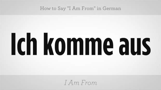 "W. How to Say ""I Am From"" in German Promo Image"