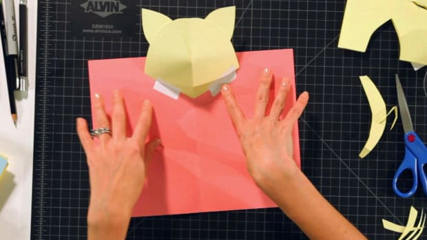 Y. How to Make a Kitten Head Pop-Up Card Promo Image