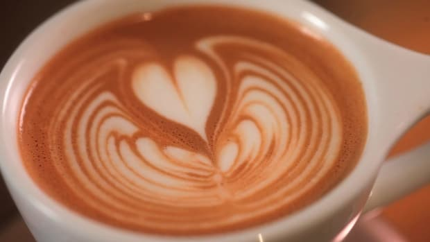 K. How to Pour a Latte Art Rippled Tulip Promo Image