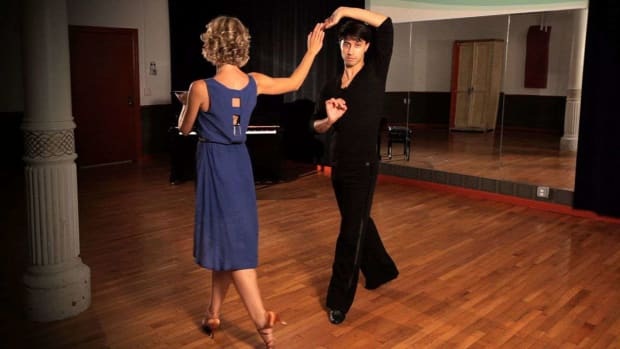 ZF. How to Do a Rumba Underarm Turn with Cuban Walk Promo Image