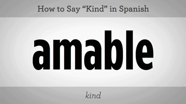 "ZM. How to Say ""Kind"" in Spanish Promo Image"