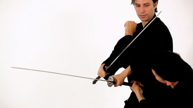 ZH. How to Do a Tsuki Katana Block in Sword Fighting Promo Image