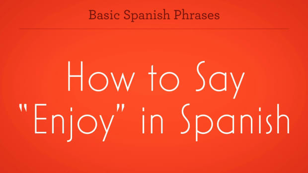 "ZW. How to Say ""Enjoy"" in Spanish Promo Image"