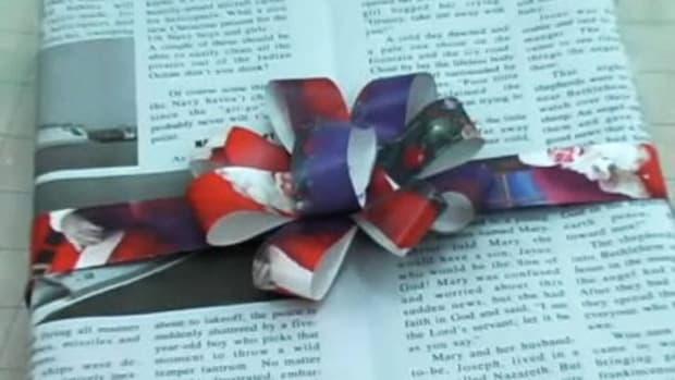 D. How to Make a Bow Out of Used Wrapping Paper Promo Image