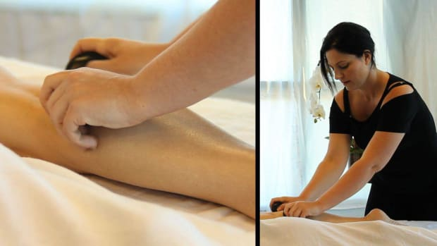 S. How to Place Stones for a Back Leg Massage Promo Image