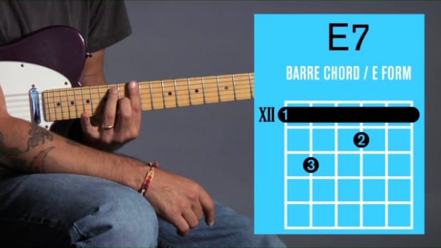 ZZZZK. How to Play an E7 Barre Chord on Guitar Promo Image