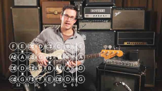 ZZZE. How to Play a C Major Triad on Bass Guitar Promo Image