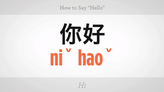 "C. How to Say ""Hello in Mandarin Chinese Promo Image"