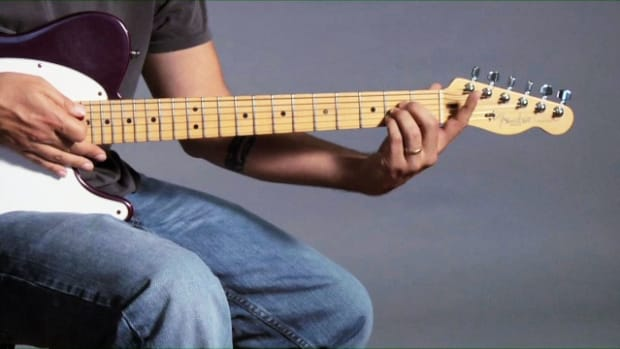 ZZZG. How to Play Barre Chords in D Major on a Guitar Promo Image