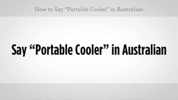 "V. How to Say ""Portable Cooler"" in Australian Slang Promo Image"