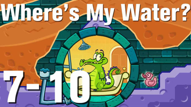 ZZZZZ. Where's My Water Walkthrough Level 7-10 Promo Image