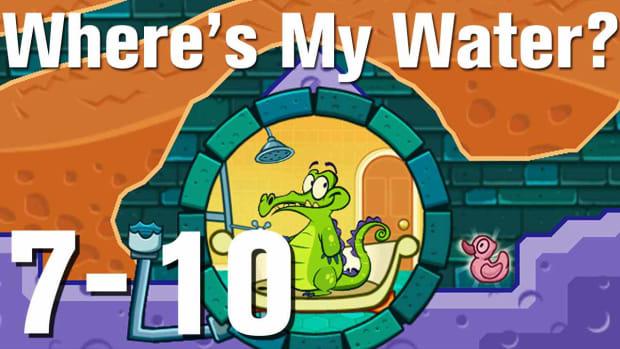 ZZZZZ. Where's My Water Walkthrough Level 7-10 Promo Image
