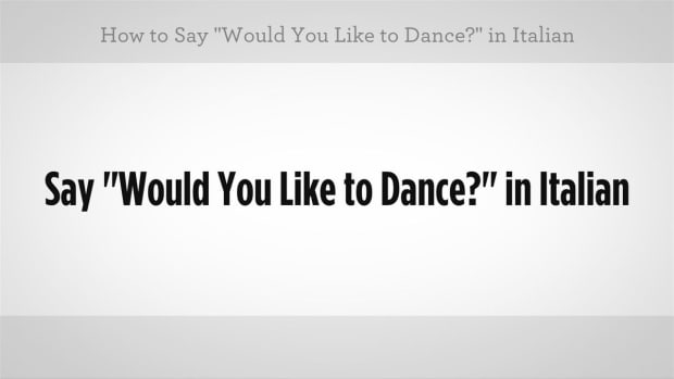 "ZZL. How to Say ""Would You Like to Dance"" in Italian Promo Image"