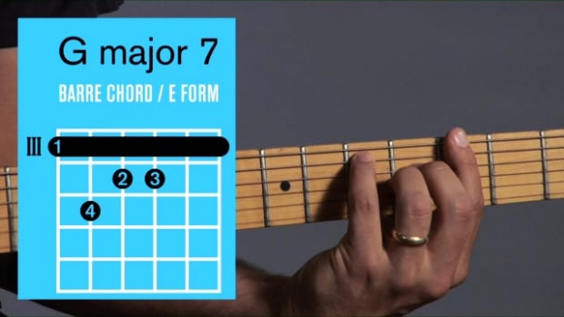 ZZZZZJ. How to Play a G Major 7 Barre Chord on Guitar Promo Image