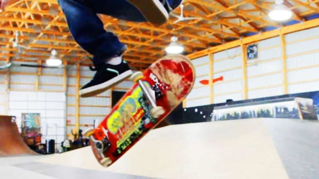P. How to Do a Heelflip on a Skateboard Promo Image