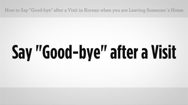 "E. How to Say ""Goodbye"" after a Visit in Korean Promo Image"