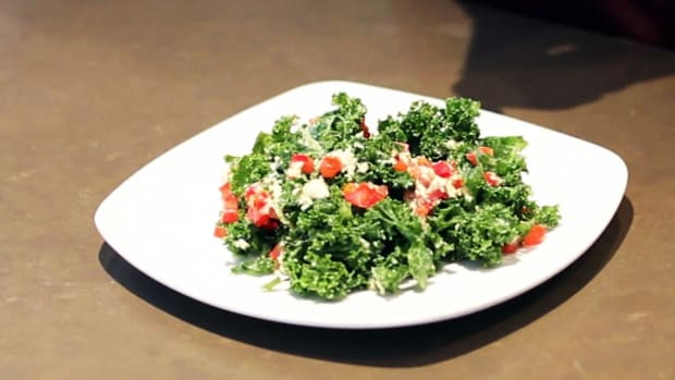 ZJ. How to Make a Kale Salad for a Raw Food Diet Promo Image