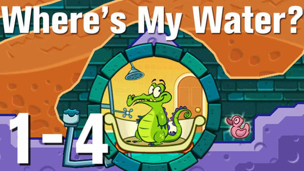 D. Where's My Water Walkthrough Level 1-4 Promo Image