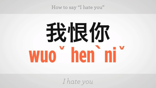 "H. How to Say ""I Hate You"" in Mandarin Chinese Promo Image"