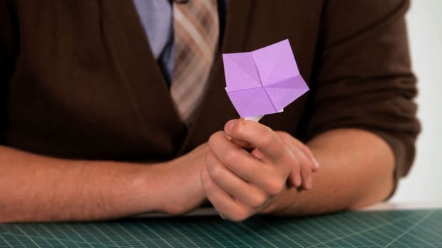 P. How to Make an Easy Origami Flower Promo Image