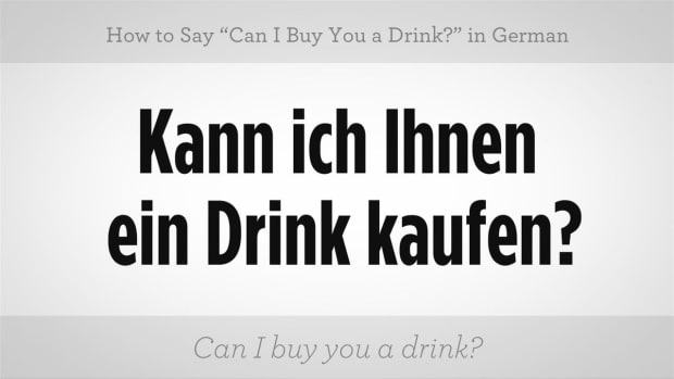 "ZZH. How to Say ""May I Buy You a Drink?"" in German Promo Image"