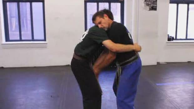 F. Defend against Front Bear Hug with Arms Pinned in Krav Maga Promo Image