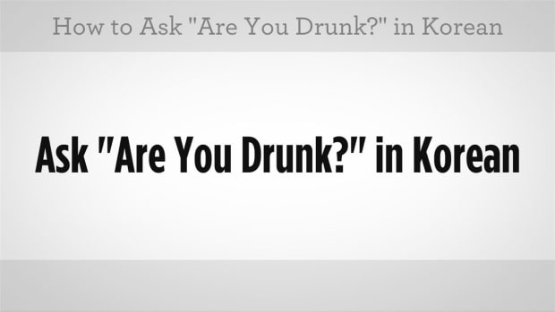"G. How to Ask ""Are You Drunk"" and ""Are You Hungover"" in Korean Promo Image"