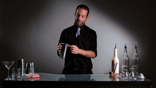 N. How to Do the Tin Toss Flair Bartending Move Promo Image
