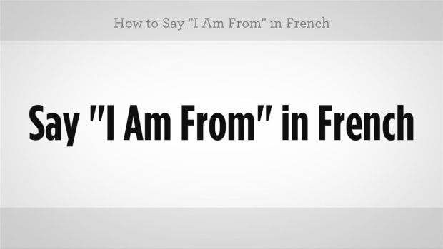 "U. How to Say ""I Am From"" in French Promo Image"