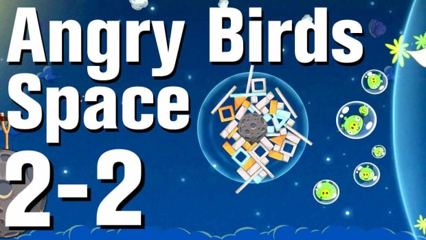 ZF. Angry Birds: Space Walkthrough Level 2-2 Promo Image