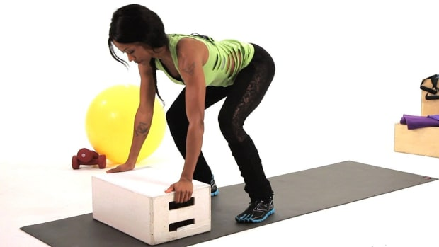 V. How to Do a Box Burpee Plyometric Exercise Promo Image