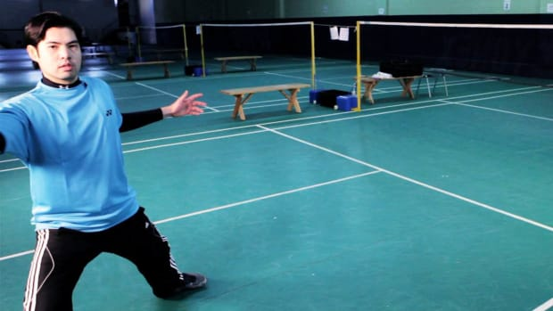 O. How to Do a Badminton Forehand Drive Shot Promo Image