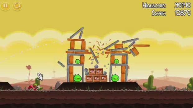 E. Angry Birds Level 3-5 Walkthrough Promo Image