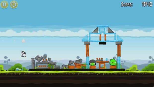 C. Angry Birds Level 4-3 Walkthrough Promo Image