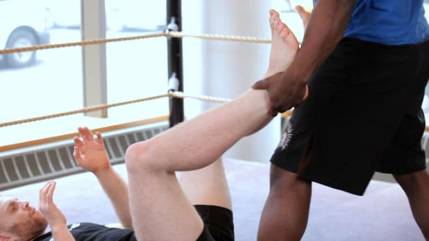 O. How to Do an Ankle Lace from Inside Guard Leg Lock Promo Image