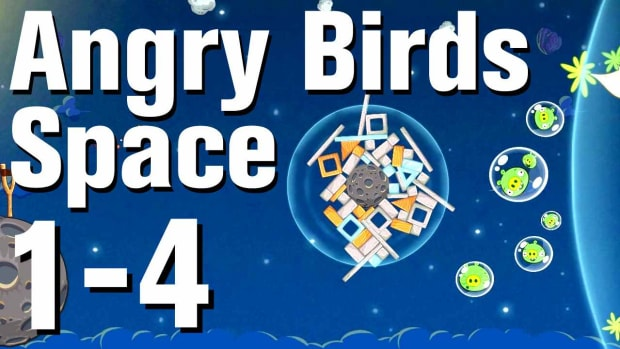 D. Angry Birds: Space Walkthrough Level 1-4 Promo Image